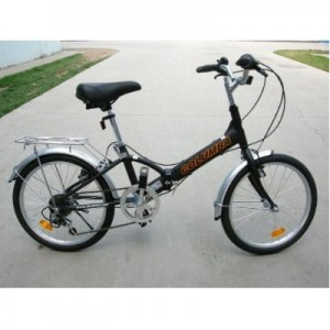 Columba 20 Alloy Folding Bike w. Shimano 7 Speed Black (R20A_BLK)