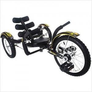 Mobo Mobito (Black) - Ultimate Three Wheeled Cruiser