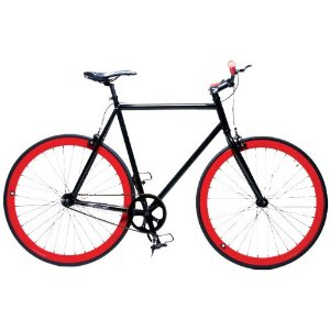 Retrospec Fixie Beta Series El Diablo Fixed Gear Single Speed Urban Road Bike (BlackRed)